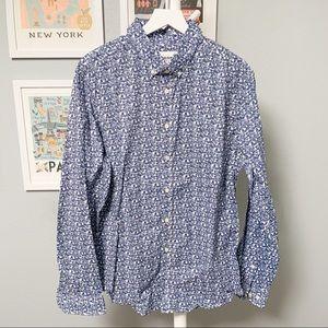 Goodfellow Floral Button-Down Shirt XL